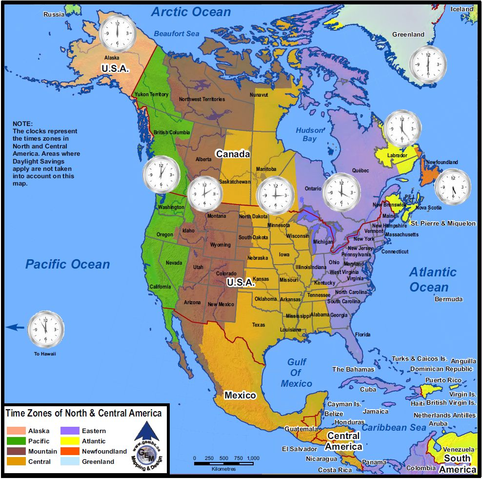 Pics Photos - Time Zone Map North America And Canada